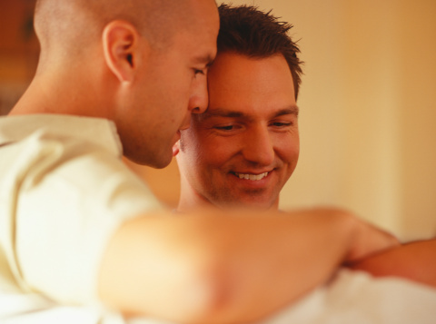 happy bottom, being a bottom, cock sleeve, gay couples, lubrication